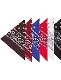 Boolavard 100% Baumwolle, 1er 6er, oder 12er Pack Bandanas mit original Paisley Muster | Farbe nach Wahl Headwear/Haar Schal Ansatz Handgelenk Verpackungs Band Kopf Bindung