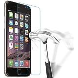Verre Trempé iPhone 6 6S, NEWC® Film Protection en Verre trempé écran Protecteur - ANTI RAYURES - SANS BULLES D'AIR -Ultra Résistant Dureté 9H Glass Screen Protector pour iPhone 6 6S