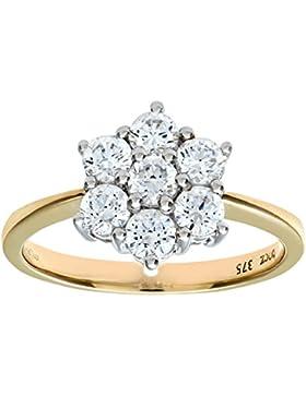 Citerna Damen-Ring 375 Weißgold 19 Diamant 9 Karat PR2141CZ (T)-p