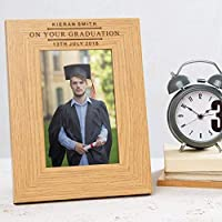 Personalised Graduation Photo Frame For Him/Graduation Presents For Him/Personalised Graduation Frame For Son/Graduation Gifts For Men - 6x4 7x5 8x6
