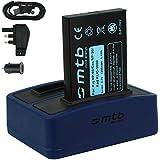 Batterie + Double Chargeur (USB/Auto/Secteur) pour Drift HD (1080p), HD170 (Stealth), HD720 / Toshiba Camileo H20 ... / Ricoh Caplio RR10 uvm... v. liste