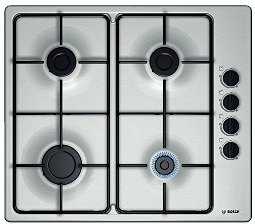 Bosch PBP6B5B80 built-in Gas Stainless steel hob - Hobs (Built-in, Gas, Stainless steel, Stainless steel, Enamelled, 1000 W)