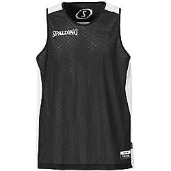 Spalding - Camisa de baloncesto, color blanco, negro, talla XL