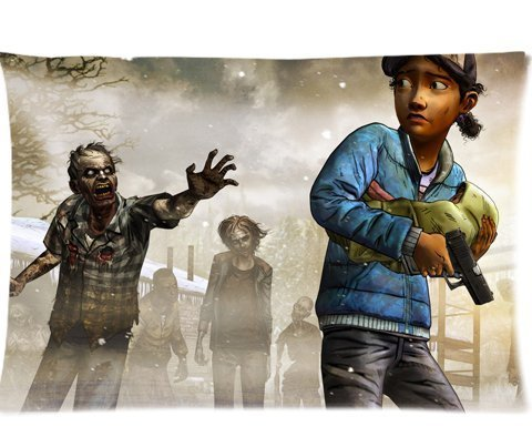 clementine-the-walking-dead-season-two-pillowcases-custom-pillow-case-cushion-cover-20-x-30-inch-two