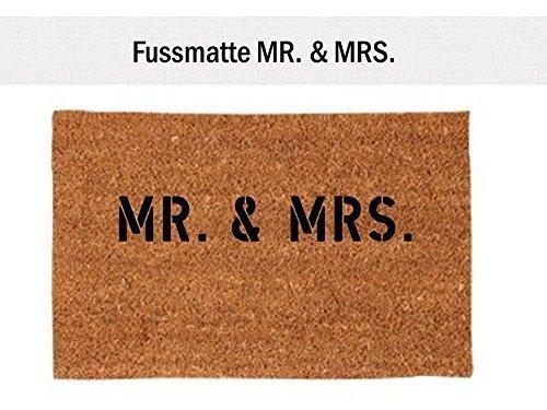 *Kokos-Fußmatte Teppich MR. & MRS. 40×60 cm Geschenk Brautpaar Hochzeit*