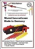 DAS ORIGINAL - STARTERSET MIT KLICK - NUSS + KLICK - BOHRER 8mm - DAS ORIGINAL für Camping-Wurmi-STABIELO-Zeltheringe-Schraubheringe-STARTERSET inkl TASCHE ZELTHERINGE/SCHRAUBHERINGE/BODENANKER - STARTERSET - Wurmi-produkte ® - SCHRAUBHERINGE mit HAKENCLIPS - MADE in GERMANY - LANGZEIT-TEST- VERTRIEB - INNOVATIONEN MADE in GERMANY - HOLLY PRODUKTE STABIELO -