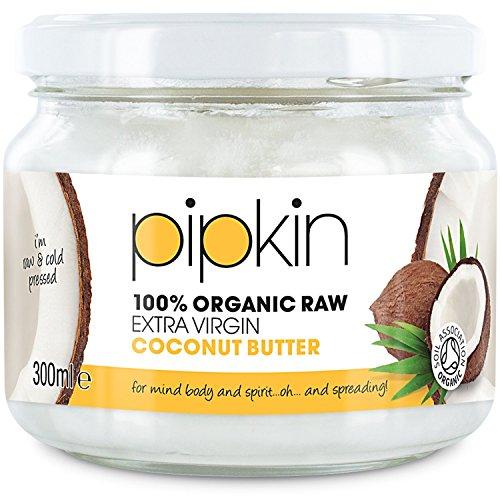 300ml Pipkin 100% Manteca de Coco Orgánico Virgen Extra y Puro, Sustituto del Azúcar, Sin Gluten, Sin Lácteos, Sustitutivo en Resposterí, Comestible, Para Cocinar, Para Vegetarianos y Veganos