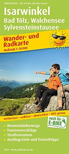 Isarwinkel, Bad Tölz, Walchensee, Sylvensteinstausee: Wander- und Radkarte mit Ausflugszielen & Freizeittipps, wetterfest, reißfest, abwischbar, GPS-genau. 1:35000 (Wander- und Radkarte / WuRK)