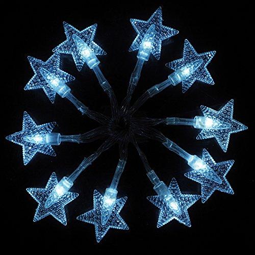 Luci Stringa Alimentazione a Batteria LED Fata Marocchine Luci Della Stringa 2m 10 LED stella a cinque punte Per Il Natale Di Nozze Del Festone Del Partit