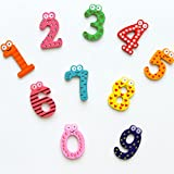 Generic mix : 10pcs/set Digital Fridge Magnets Educational ld Wooden sticker baby toy home appliances Refrigerator Decor Accessories