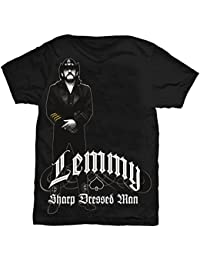 Lemmy,Ian Fraser Kilmister band shirt with sharp dressed man print, from Mto2XL