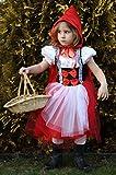 Brandsseller Karneval Fasching Rotkäppchen Kostüm mit Kapuzenumhang Verkleidung für Kinder - Größe: 152/164 Vergleich