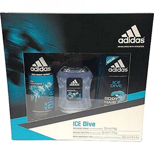 Adidas Eau de toilette mit Zerstäuber, Duschgel und Deo Set