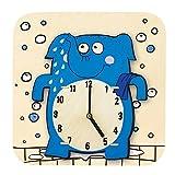 """Robotime AC202""""sterxy DIY Digital Kids/Dibujos Animados Diseño de elefante de madera reloj de pared"""