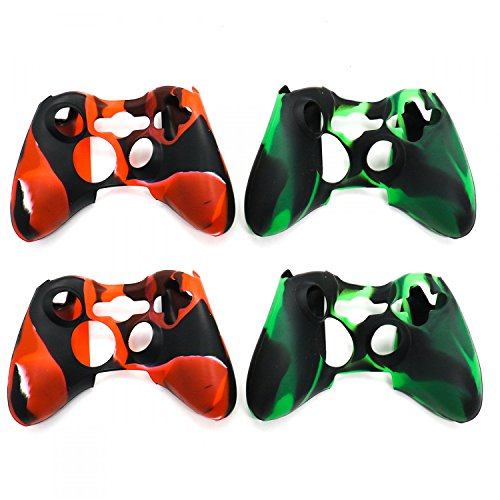 Buorsa Skins für Xbox 360Controller Silikon Cover Case Anti-Rutsch Displayschutzfolie Camo