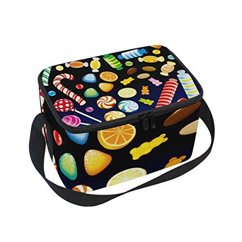 (ALINLO Halloween-Lunchtasche mit Reißverschluss, isolierte Kühltasche, Lunchbox, Essen Vorbereiten Handtasche für Picknick, Schule, Frauen, Herren, Kinder)
