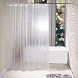 BSTT Cortinas de Ducha antimoho y Lavables PEVA Cubo 3D Cortina de baño Decorativa para el hogar y el Hotel Blanco 180 x 180 cm