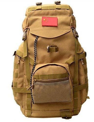 ZQ 75 L Rucksack Camping & Wandern Draußen Multifunktions Braun / Tarnfarben Leinwand Other Camouflage