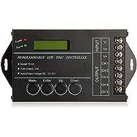 SODIAL (R) 20A temporizador programable DC12-24V controlador para / rayas monocromaticas LED RGB