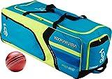 Kookaburra Pro 800cricket sport Team kit borsone attrezzatura portaoggetti, con ruote, Blue/Yellow/Black, 1000 x 370 x 400mm