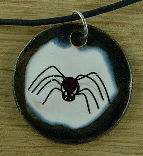 Echtes Kunsthandwerk: Hübscher Keramik Anhänger Halloween; Spinnen, Hexe, Fest, Oktober, - Halloween-fest Hexe La