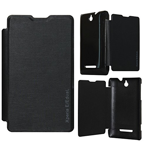 DMG Durable Protective PU Leather Flip Book Cover Case for Sony Xperia E - Black  available at amazon for Rs.199