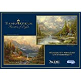 Gibsons puzzle - Mountain Majesty/Beginning of a Perfect Day 1000 pieces x 2
