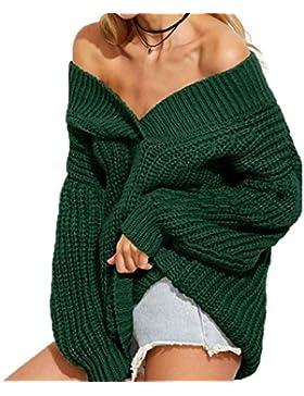 Pullover Mujer Elegante Color Sólido Pullover Punto Primavera Otoño Tallas Grandes Fiesta Estilo Sweater Fashion...