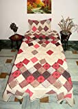 #2: Design Villa Multi color Printed Elastic Fitted 4 to 6 Inch Matress Single Bedsheet With 1 Pillow Cover
