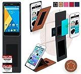 reboon Hülle für Elephone P7000 Tasche Cover Case Bumper | Braun Leder | Testsieger