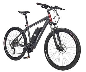 Telefunken E-Bike Mountainbike, Elektrofahrrad Alu in grau, 10 Gang Shimano Kettenschaltung - Pedelec MTB leicht, Mittelmotor 250W und 10 Ah/36V Lithium-Ionen-Akku, Reifengröße: 27,5 Zoll