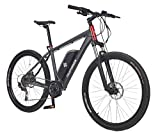 Telefunken E-Bike Mountainbike Elektrofahrrad Alu, grau, 10 Gang Shimano Kettenschaltung - Pedelec MTB leicht, Mittelmotor 250W, Reifengröße: 27,5 Zoll, Aufsteiger M800