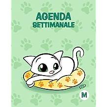 Agenda settimanale - M: Verde - Gatti - Perpetua (Senza date) - 15x19 cm
