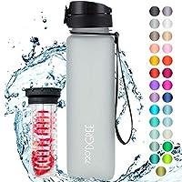 """720°DGREE Trinkflasche """"uberBottle"""" +Früchtebehälter - 1L - BPA-Frei - Wasserflasche für Sport, Fitness, Uni, Fahrrad,..."""