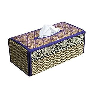 11/x 7/x 5inch Yazi Vintage estilo caja de pa/ñuelos flor tarjeta de oficina de piel sint/ética multifuncional Organizador de escritorio//pluma//l/ápiz//tel/éfono m/óvil//Control Remoto Caja de Kleenex soporte