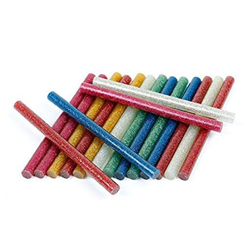 rosenice Glitter Glue Sticks Mini 5010Farben selbstklebend Hot Melt Klebestifte für DIY Art Craft (wie abgebildet)