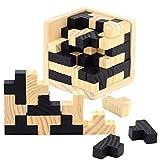 3D Puzzle en Bois Casse-tête - Chickwin Jeu en bois Kongming Lock Intelligence Jouets pour les enfants et les adultes