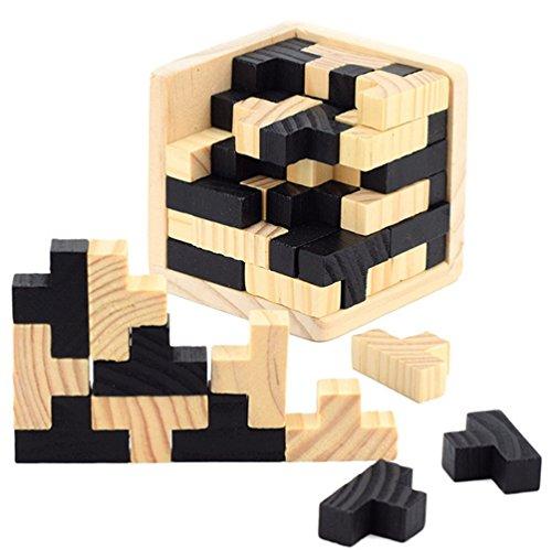 3D Madera Rompecabezas Para la Mente - Chickwin Juego de madera Kongming Lock inteligencia juguetes para niños y adultos