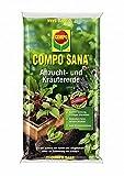 Compo Sana Anzucht- und Kräutererde 10 Liter für Kräuter und Jungpflanzen Stecklinge Aussaaten für kräftiges Wachstum