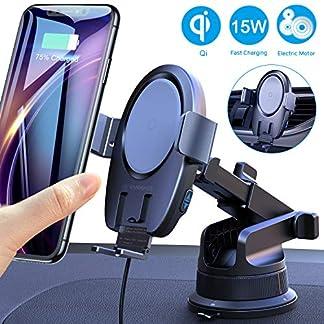VANMASS-15W-Fast-Wireless-Charger-Auto-Handyhalterung-Automatischer-Motor-Betrieb-Qi-Ladestation-Handyhalter-frs-Auto-mit-LftungsclipSaugnapf-Induktives-Ladegert-fr-iPhone-SamsungAlle-Qi-Gerte
