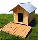Bild: Elmato 10914 Hundehütte Hundehaus Spitzdach komplmontiert