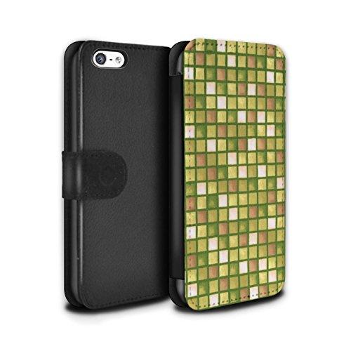Stuff4 Coque/Etui/Housse Cuir PU Case/Cover pour Apple iPhone 5C / Pack (15 modèles) Design / Carreau Bain Collection Or