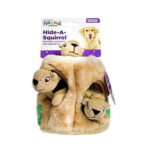 ch,Dauerhaft Puzzle Hundespielzeug Quitschend,Ein Eichhörnchen Verstecken Interaktives Hundespielzeug für Mittlere/Kleine Hunde ()