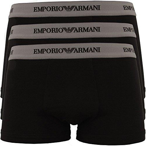 Emporio Armani 3er Pack Baumwolle Stretch Boxer Shorts Trunk 3 X Schwarz