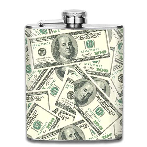 FGRYGF Edelstahlflasche Drink Liquor Flachmann American Dollar Water Pot Rum Container Flask Pocket for Adults