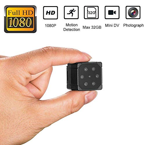 Insense SQ19 Mini Camera, 1080P Sport HD DV Camera Video Recorder, Car DVR Camera with Night Vision Motion Detection Action Camera for Home Outdoor Recorder Dvr Recorder Motion Detection