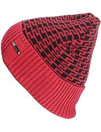 Feiboy Acolchado Clásico Sombrero Tejido Invierno Al Aire Libre Hombres  Gorros De Punto Lavable Suave Hat Caliente Plegable Gorra… ce4eb666e78