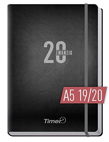 Chäff-Timer Premium A5 Kalender 2019/2020 [Silber] Terminplaner 18 Monate: Juli 2019 - Dez. 2020 | Terminkalender, Wochenplaner, Wochenkalender, Organizer mit Gummiband und Einstecktasche
