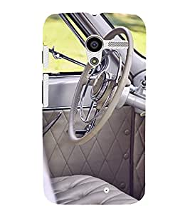 printtech Vintage Car Steering Indide Back Case Cover for Motorola Moto X XT1058 / Motorola Moto X (1st Gen)