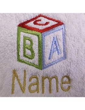 Toalla para la cara, toalla de mano, toalla de baño, baño (o) personalizado con ABC cubo Logo y nombre de su elección...